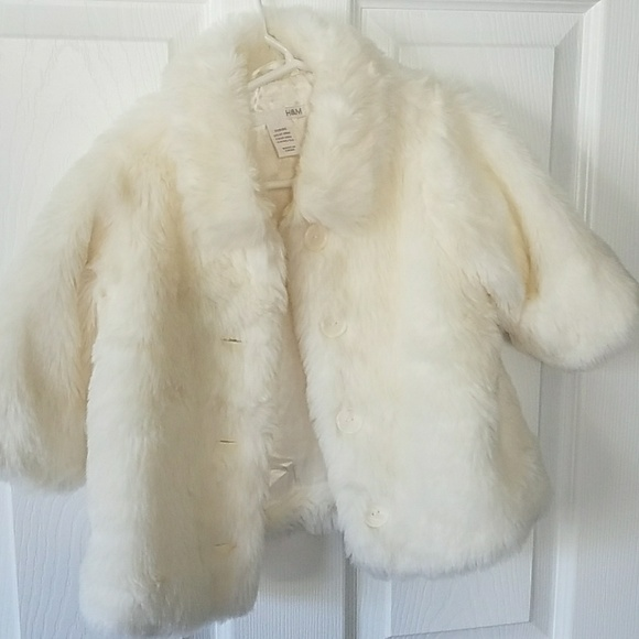 reliable reputation official price sale uk H and M faux fur coat for 12 to 18 months